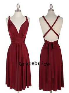 custom cheap chiffon dresses short bridesmaid dresses deep sweetheart wine red prom dresses open back homecoming dress with spaghetti straps...