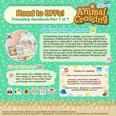 """""""second half of Ultimate Friendship Handbook~"""" Animal Crossing Wiki, Animal Crossing Villagers, Nintendo Switch, City Folk, Animal Games, New Leaf, Guide Book, Funny Jokes, Things To Come"""