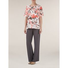 Buy Windsmoor Blurred Floral Top, Coral from our Women's Shirts & Tops range at John Lewis & Partners. Neck Piece, Blur, Woven Fabric, Floral Tops, Short Sleeves, Elegant, Shirts, Stuff To Buy