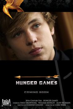 I WOULD HAVE LOVED WILLIAM MOSELEY AS PEETA. (Haha also note that the movie stars Alan Rickman, too... as Haymitch?)