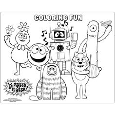 Yo Gabba Gabba Coloring Page  Coloring Pages for Yu