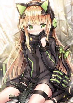 No one told me TMP's could be this cute [Girls Frontline] Anime Girl Cute, Anime Girls, Anime Girl Neko, Beautiful Anime Girl, Anime Artwork, Manga Anime, Manga Kawaii, Art Anime, Anime Cat