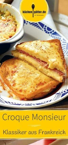 Nadire Atas on Croque Monsieur and Croque Madame - Simply Delicious Fluffy French Toast, Nutella French Toast, Best French Toast, Overnight French Toast, French Toast Bake, French Toast Casserole, Toast Pizza, Cheese Toast, Toast Hawaii