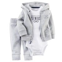 Wish | Casual Newborn 6 9 12 18 Months Cardigan Pant Set Jumpsuit Romper Bodysuit Baby Boy Clothes Outfit Gray