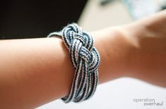 DIY: nautical rope bracelet