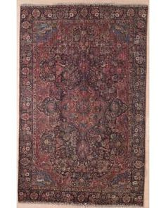 Semi-antique Persian Tabriz Area Rug 1720 - Area Rug