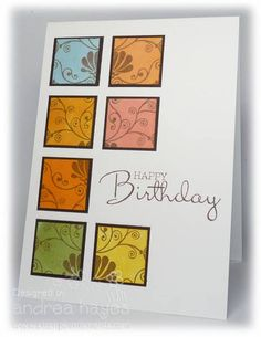 Birthday Squares by stampinandrea - Cards and Paper Crafts at Splitcoaststampers