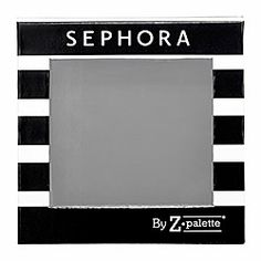 Sephora Collection - Z Palette | Travel with your favorite eye shadows, blushes, powders, bronzers, and luminizers in one compact container. Just use the included spatula to remove them from other palettes. Then apply the included stick-on magnetic backings and place products in the Z Palette for a completely customized and interchangeable palette that's ready for any occasion. Too Cool!!