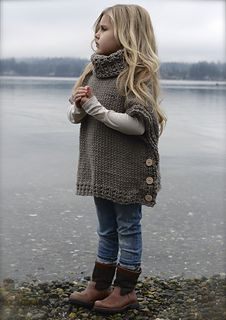 crochet poncho kids Welcome to The Velvet Acorn, here you will find purely original pattern designs in knit and crochet. Inspired and crafted with my love of nature and the outdoors Knitting For Kids, Crochet For Kids, Knitting Projects, Baby Knitting, Crochet Baby, Crochet Projects, Knit Crochet, Poncho For Kids, Girls Poncho