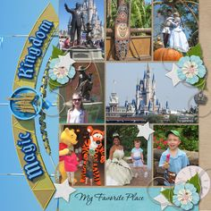 #papercraft #scrapbook #layout.  MouseScrappers.com Template Challenge 205 sample