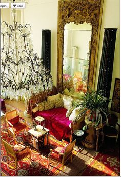 Glam eclectic living room