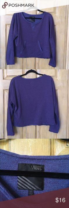 Vans Crew Neck Sweater Purple vans crew neck. Medium with front pocket. Fits shorter Vans Sweaters Crew & Scoop Necks