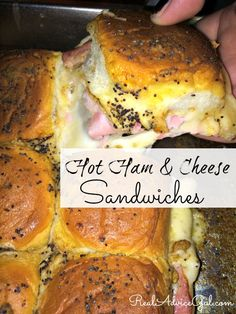Hot Ham And Cheese Sandwiches Recipe. A great party treat
