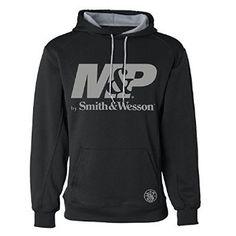 M&P Gray logo Performance Hoodie Black L at Amazon Men's Clothing store: