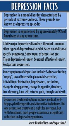 These depression facts are good to share with people who need/want a better understanding of depression.