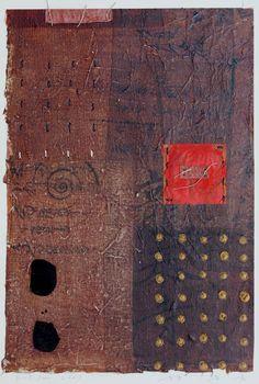 D-15.June.2001 painting, collage  林孝彦 HAYASHI Takahiko 2001