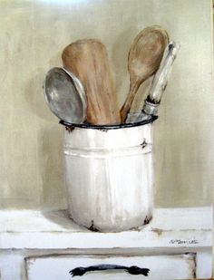 Ready to hang Print - French Cooking Utensils - FREE POSTAGE Australia wide