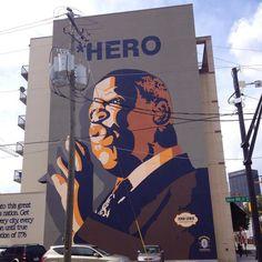 Mural of Congressman John Lewis in Georgia