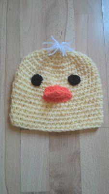 Bits & Bobbles : Crochet Easter Chicken Childrens Hat Pattern