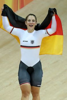 Kristina Vogel of Germany celebrates after winning gold during the Women's…
