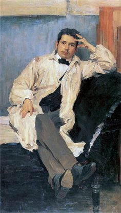 Filipp Malyavin (Филипп Андреевич Малявин, 1869-1940)  Portrait of Artist K.Somov
