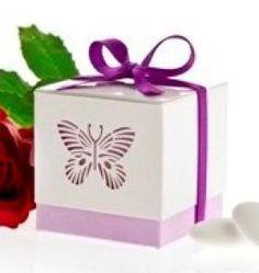 Butterfly favour box in purple