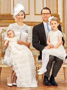 Crown Princess Victoria and Prince Daniel with their two children Estelle and Oscar, 2016