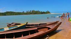 Canoas em Caraíva por @cleidsonarraial