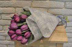 #Buchet din #lalele-#bujori mov cu #livrare în #Moldova . #tulips #paeonia #flowerdelivery