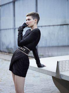 Feminine Punk Fashion - The ELLE UK December 2013 Photoshoot Stars Harmony Boucher (GALLERY)
