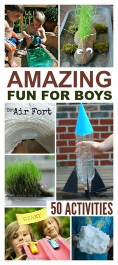 50 Super fun activities for boys- so many neat ideas!  My guys would love these!