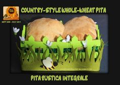 Sweet and That's it: Country-Style Whole-Wheat Pita - Pita Rustica Integrale Whole Wheat Pita, Back To The Future, Country Style, Bread, Baking, Sweet, Candy, Rustic Style, Brot