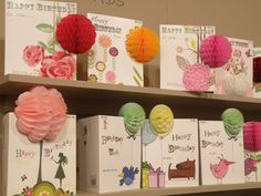 My Notes & Queries rep Janis is here. I'm buying WONDERFUL cards, including some of these cuties. Paper Ribbon, Tissue Paper, Honey Pops, Honeycomb Paper, Shop Fittings, Stationery Shop, Craft Club, Pop Up Cards, Card Designs
