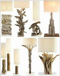 driftwood lamps