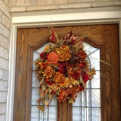 Autumn wreath/ Thanksgiving wreath/ RICH fall by wreathedinblooms, $90.00