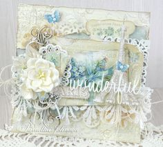 I used Mister Tom's Treasures and Pion Design Palette to make this new design. The front doors of the case open to reveal a pop-out accordion vintage camera that holds photos or tags. Vintage Cards, Vintage Paper, Card Creator, Mixed Media Cards, Romantic Cards, Shabby Chic Cards, Beautiful Handmade Cards, Pretty Cards, Card Maker