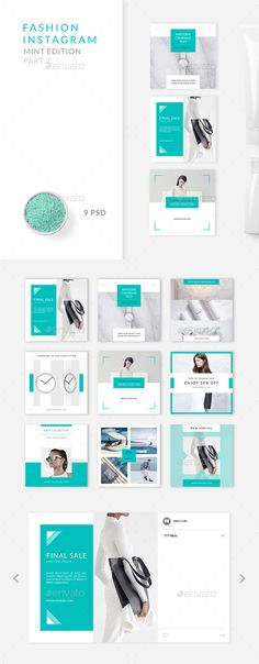 Fashion Instagram – Mint Edition – Part 2 - #Social Media #Web Elements Download here: https://graphicriver.net/item/fashion-instagram-mint-edition-part-2/20021671?ref=alena994