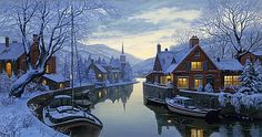 Eugene Lushpin-old inn by the river
