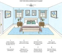 Infographic: How To Design Your Bedroom For A Good Night's Sleep - DesignTAXI.com