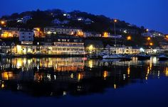 West Looe Reflections at Night