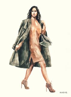 Fashion Vector, Fashion Art, Fashion Design, Street Fashion, Old Man Portrait, Choreography Videos, Fashion Sketches, Fashion Illustrations, Dress Drawing