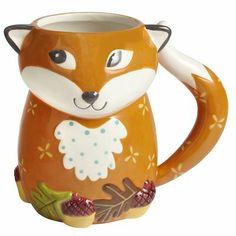 Foxy Fox Mug Cute Coffee Mugs, Cute Mugs, Coffee Cup, Fox Collection, Fox Decor, Fox Pattern, Fox Art, Woodland Creatures, Mug Shots