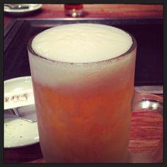 狸狸亭の生ビール