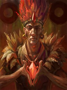 Amazing Paintings by Lane Brown 04 Witch Doctor, Amazing Paintings, Science Fiction Art, Fantasy Inspiration, Fantasy Characters, Book Characters, Character Art, Character Ideas, Ancient Aliens