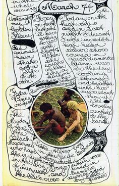 vali myers diary..Love the photo surrounded by journaling.