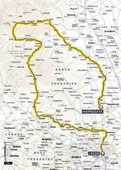 Stage 1 for the Yorkshire Grand Départ 2014.