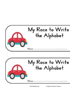 Race to Write Alphabet booklet