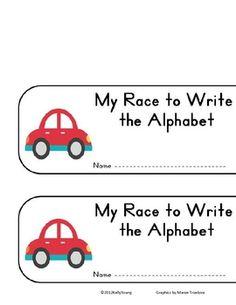 Race to Write the Alphabet Freebie