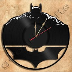 Wall Clock Batman No2 Vinyl Record Clock home por geoartcrafts