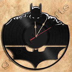 Wall Clock Batman No2 Vinyl Record Clock Upcycled by geoartcrafts, €23.00
